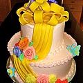 蛋糕裝飾3-Fondant Tiered Cake1.jpg