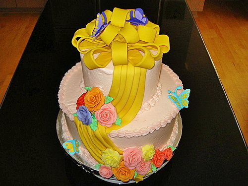 蛋糕裝飾3-Fondant Tiered Cake3.jpg