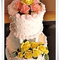 蛋糕裝飾3-Rose wedding Cake1.jpg