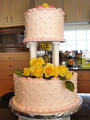蛋糕裝飾3-Rose wedding Cake2.jpg