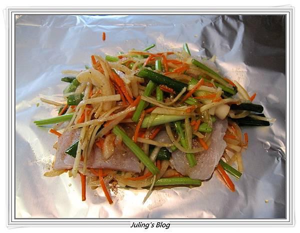 大頭菜紙包魚做法5.JPG