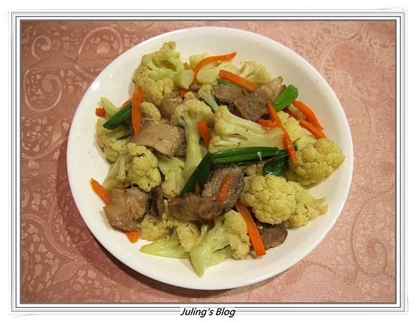 鹹豬肉炒白花菜.JPG