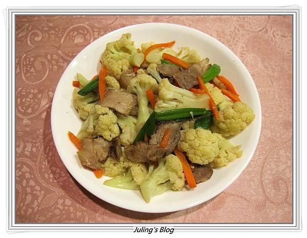 鹹豬肉炒白花菜1.JPG