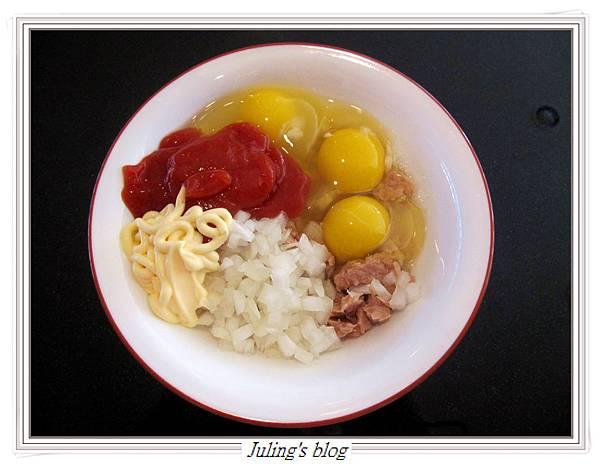 蕃茄醬炒鮪魚蛋做法1.JPG