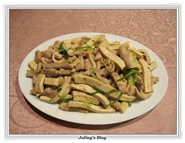 白豆乾炒肉絲做法9.JPG