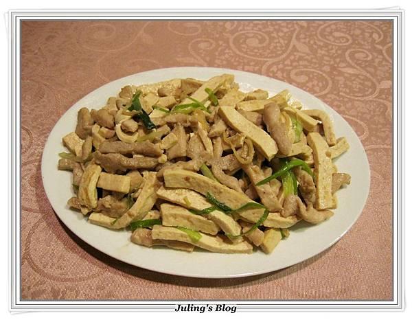 白豆乾炒肉絲做法10.JPG