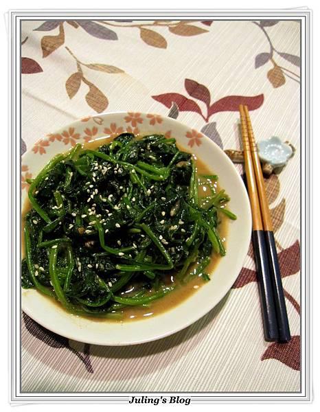芝麻味噌菠菜.JPG