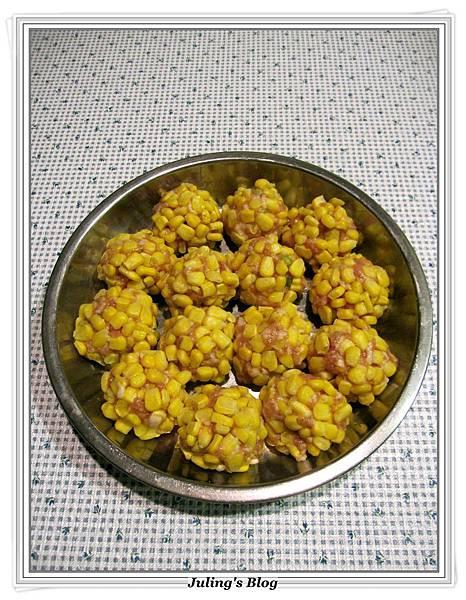 玉米珍珠丸子做法4.JPG