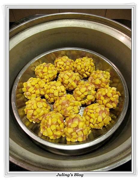 玉米珍珠丸子做法5.JPG