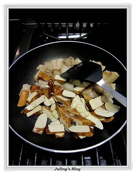 花菜回鍋肉做法6.JPG