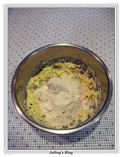 巧克力豆乳酪方塊做法4.JPG