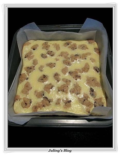 巧克力豆乳酪方塊做法10.JPG