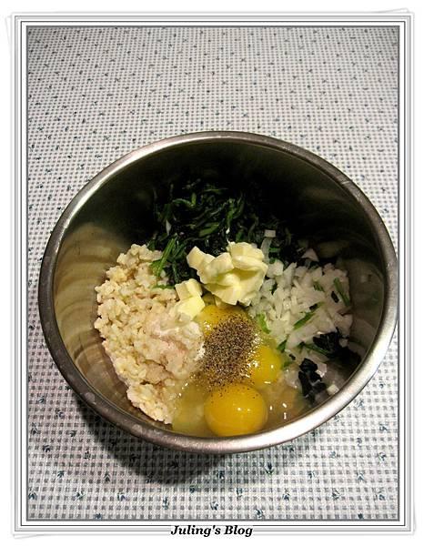 烤菠菜起司米餅做法2.JPG