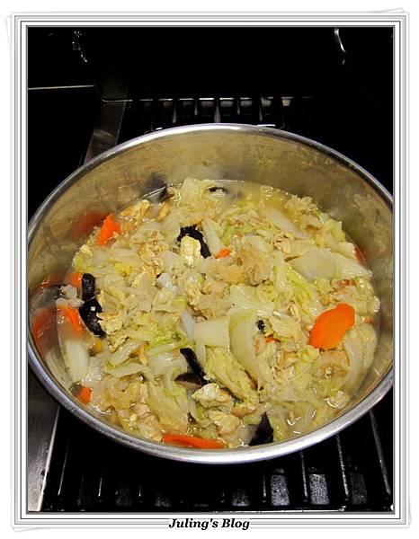 素白菜滷做法8.JPG