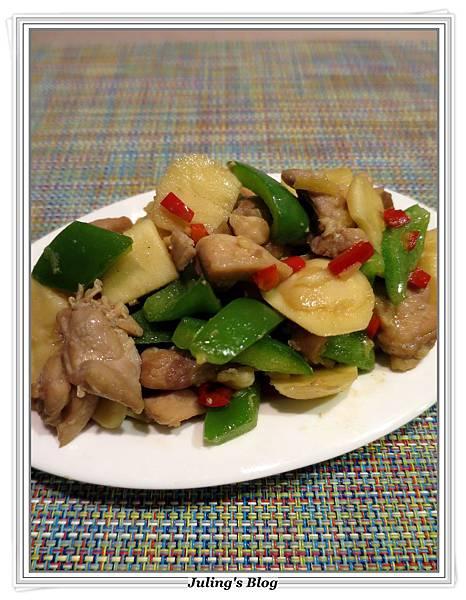 青椒慈菇炒雞肉3.JPG