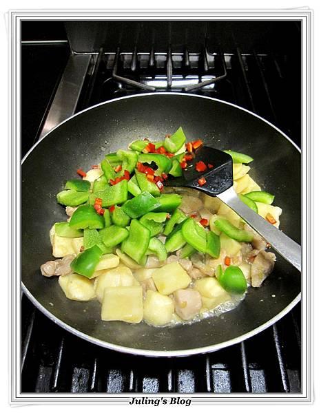 青椒慈菇炒雞肉做法6.JPG