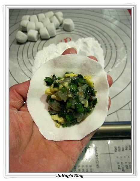 韭菜蝦仁水晶Q餃做法11.JPG