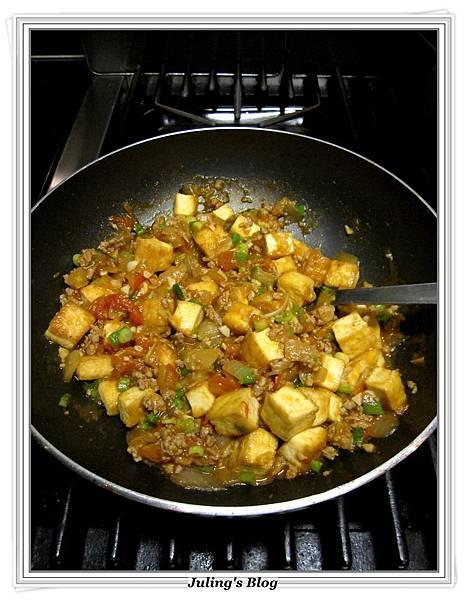肉末蕃茄燒豆腐做法11.JPG