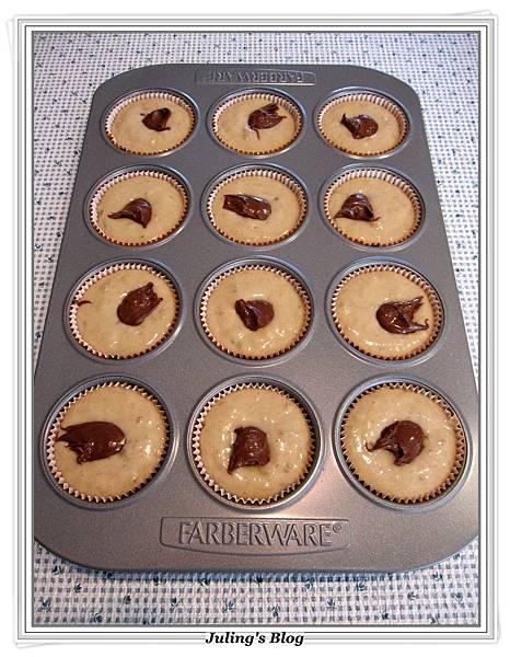 Nutella Banana Muffins做法11.JPG