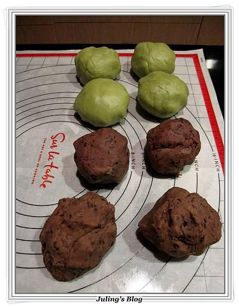 抹茶豆沙餅做法4.JPG