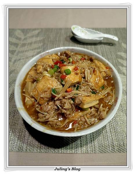 肉末金菇燒豆腐2.JPG