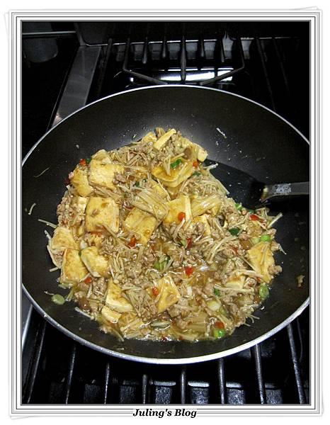 肉末金菇燒豆腐做法12.JPG
