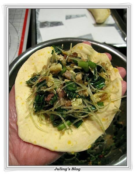 培根韭菜薄皮餡餅做法23.JPG