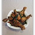 用電飯鍋做三杯雞腿1.jpg