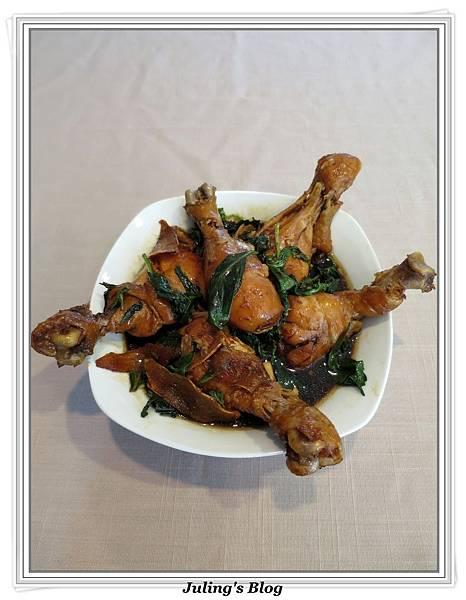 用電飯鍋做三杯雞腿2.jpg