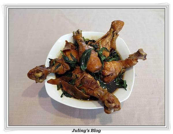 用電飯鍋做三杯雞腿3.jpg