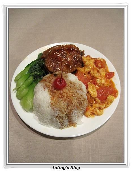 用電飯鍋做蒜香蜜汁雞1.jpg