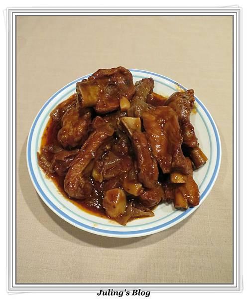 用電飯鍋做美式烤肉醬排骨1.JPG