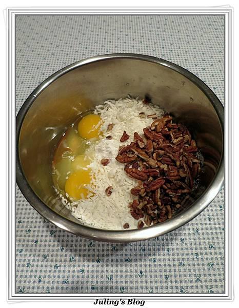 胡桃椰子蔓越莓方塊做法4.jpg
