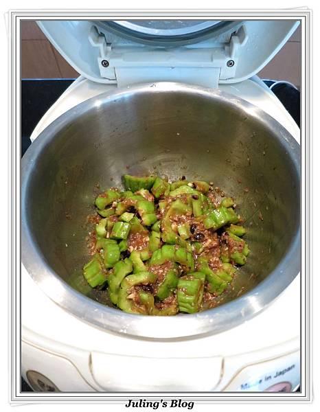 用電飯鍋燒苦瓜做法4.jpg