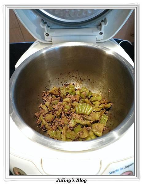 用電飯鍋燒苦瓜做法5.jpg