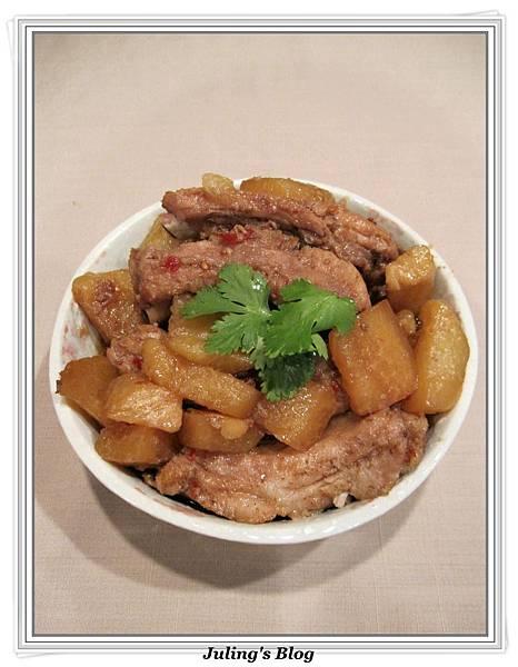 用電飯鍋做大頭菜燒排骨1.jpg