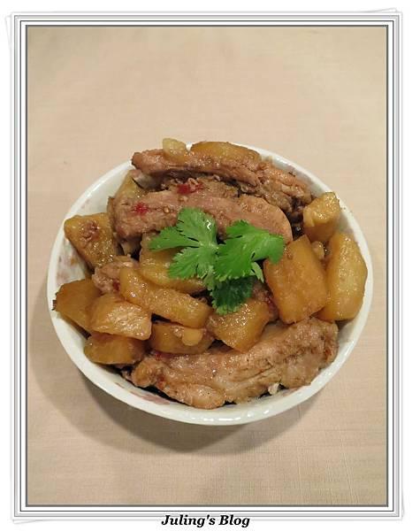 用電飯鍋做大頭菜燒排骨2.jpg