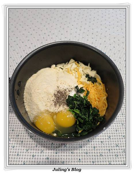 起司菠菜丸子做法3.JPG