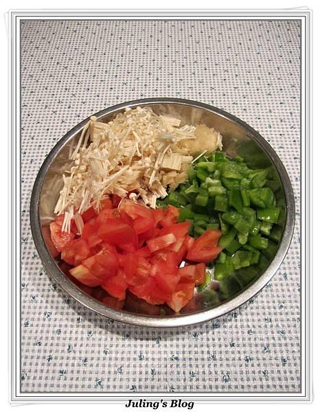 青椒蕃茄炒肉末做法1.jpg