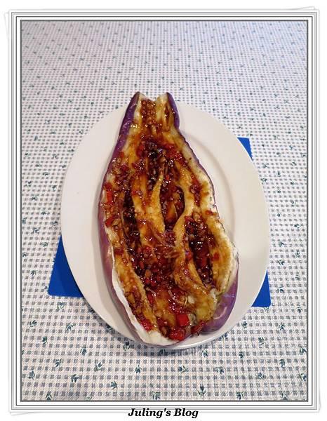 用微波爐烤茄子做法7.JPG