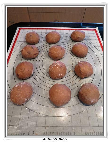 巧克力蔓越莓麵包做法8.JPG