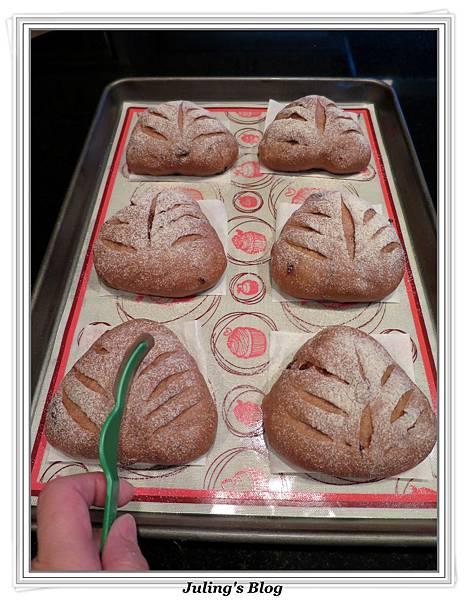 巧克力蔓越莓麵包做法14.JPG