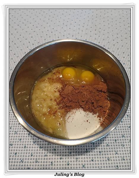 香蕉巧克力蛋糕做法2.JPG