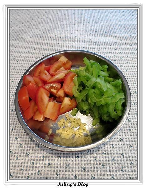 苦瓜蕃茄炒蛋做法2.JPG