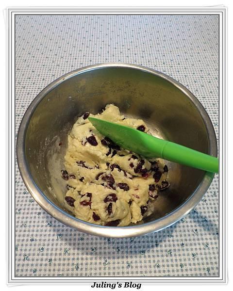 全麥蔓越莓奶酥麵包做法9.JPG