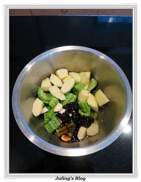 用電飯鍋做蘋果苦瓜做法2.JPG