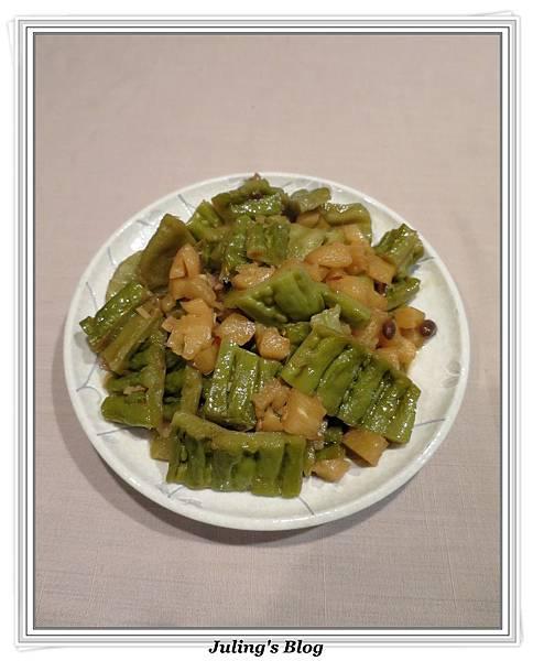用電飯鍋做鳳梨苦瓜2.JPG