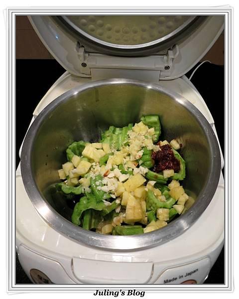 用電飯鍋做鳳梨苦瓜做法3.JPG