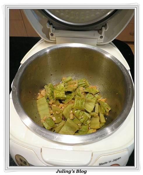 用電飯鍋做鳳梨苦瓜做法6.JPG