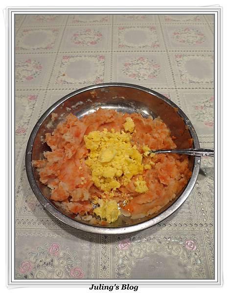 炒素蟹黃做法5.JPG